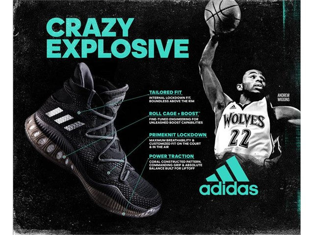innovative design cf887 167c9 Together with the D Rose 7, the Adidas Crazy Explosive was also unveiled  yesterday. This model will be primarily worn by the rising big man, Andrew  Wiggins ...