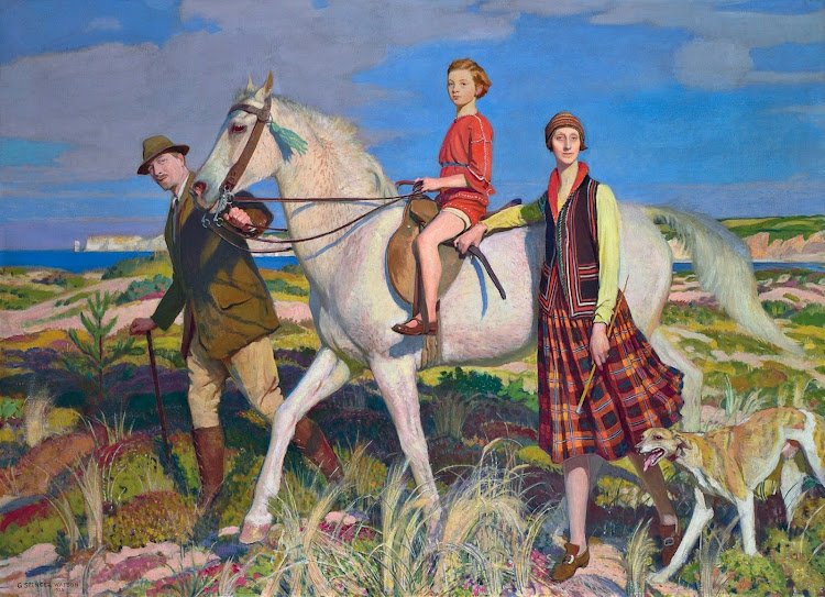 George Spencer Watson (1869-1934) - Four Loves I found, a Woman, a Child, a Horse and a Hound (1922)