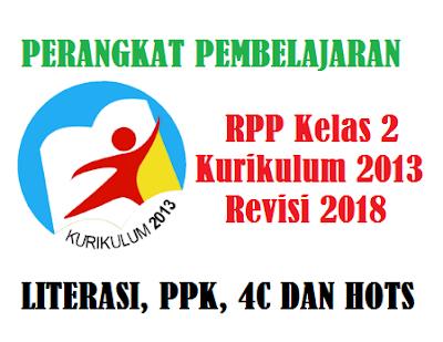 Download RPP Kelas 2 Kurikulum 2013 Revisi 2018