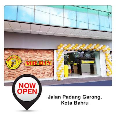 MR.D.I.Y outlet Jalan Padang Garong, Kota Bahru