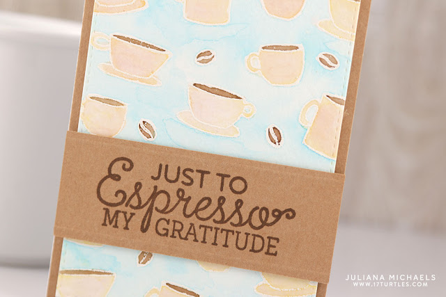 Espresso Gratitude Card by Juliana Michaels