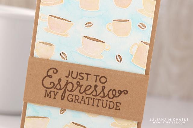 Espresso Gratitude Card by Juliana Michaels