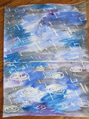 Rainy Day Wax Resist-Easy peasy art tutorial {The Unlikely Homeschool}