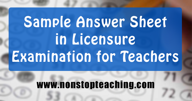 licensure examination for teachers In taking the licensure examination for teachers (let), it doesn't necessarily mean that you should know all the theories, principles and relevant laws in education.
