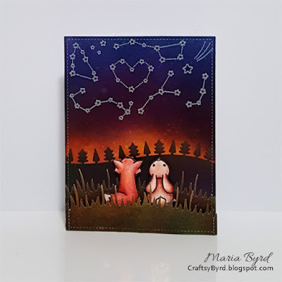 Wish Upon A Star Card by Maria Byrd | CrafstyByrd.blogspot.com