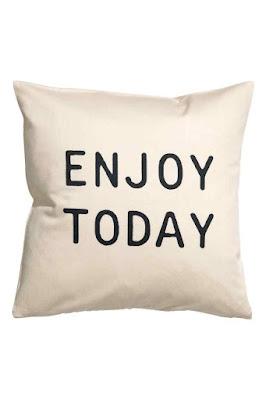 Enjoy Today Slogan Cushion H&M