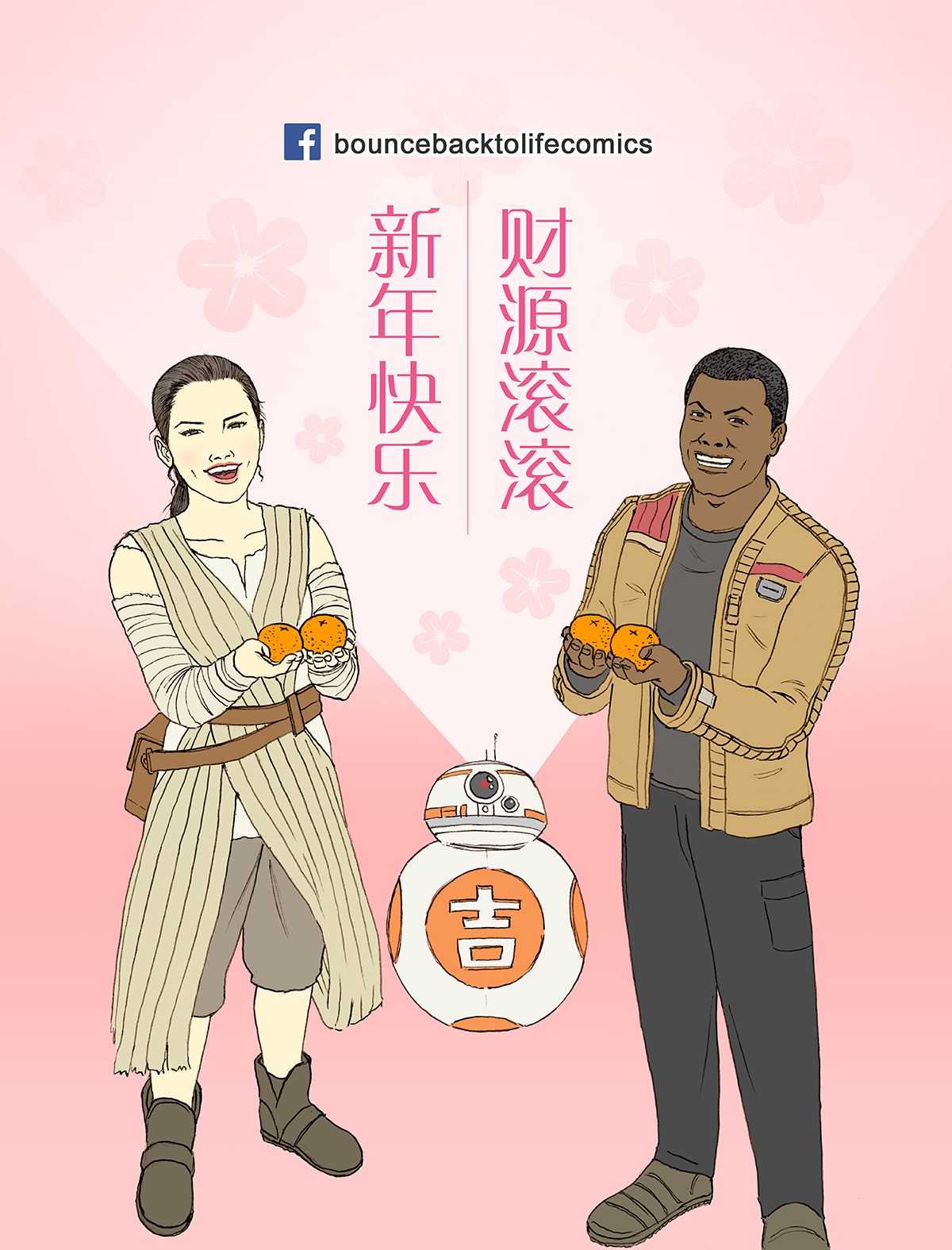 Star Wars, Rey, Finn, The Force Awakens, Lunar New Year, Chinese New Year