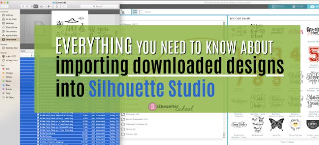 Silhouette Studio v4, bulk importing, bulk import silhouette studio designs