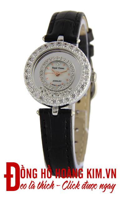 Đồng hồ đeo tay nữ Royal Crown dây da giá rẻ dưới 1 triệu