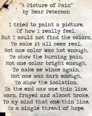 Poetry by people with chronic pain and fibromyalgia