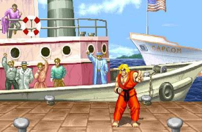 Ken nel suo stage di ''Street Fighter II''
