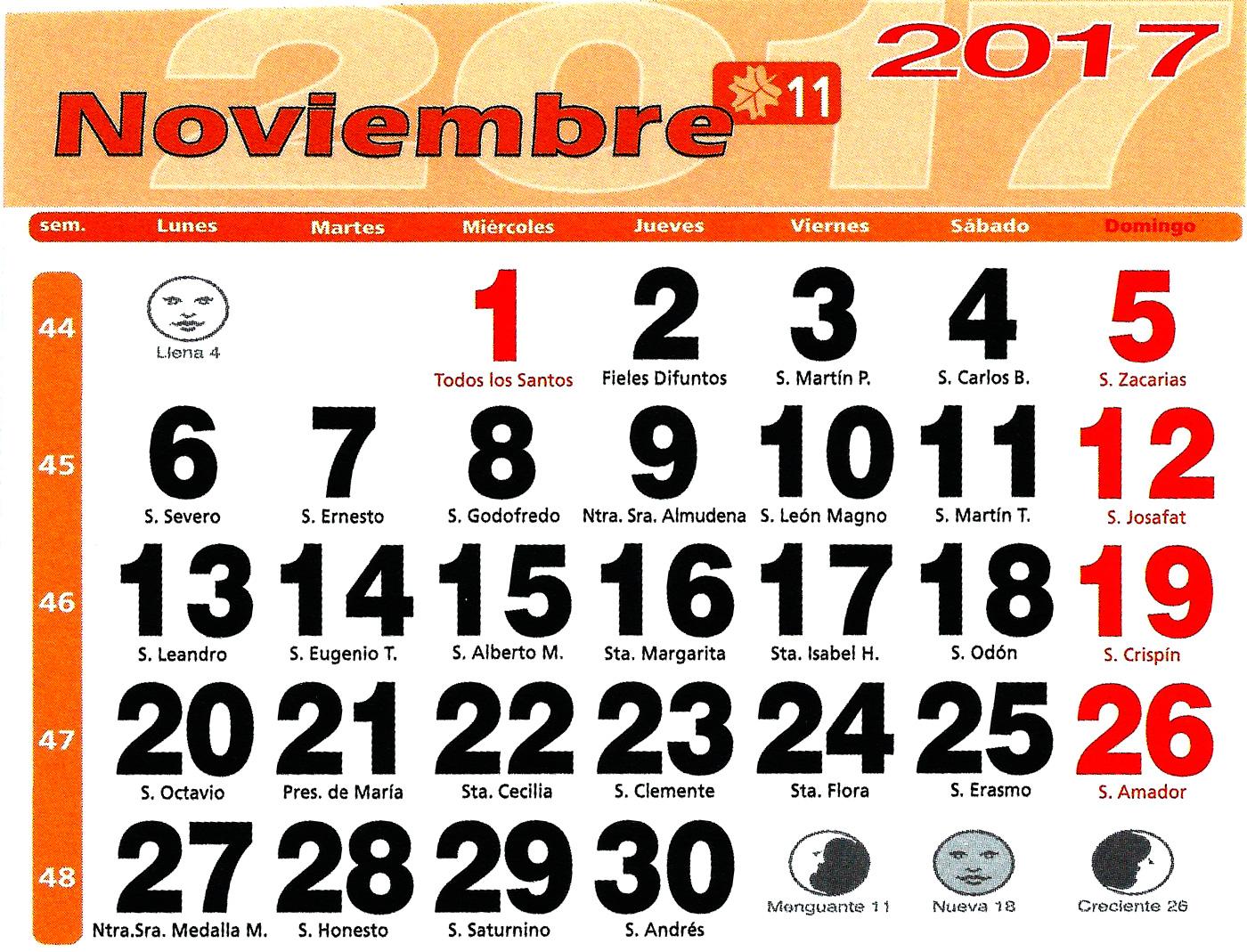 Huerto urbano luis servia borgas calendario lunar 2017 for Calendario lunar noviembre 2016