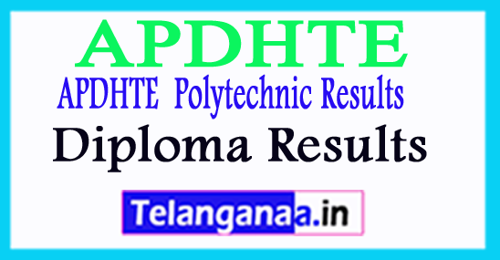 APDHTE Diploma Result 2018  CSE IT Diploma APDHTE Result