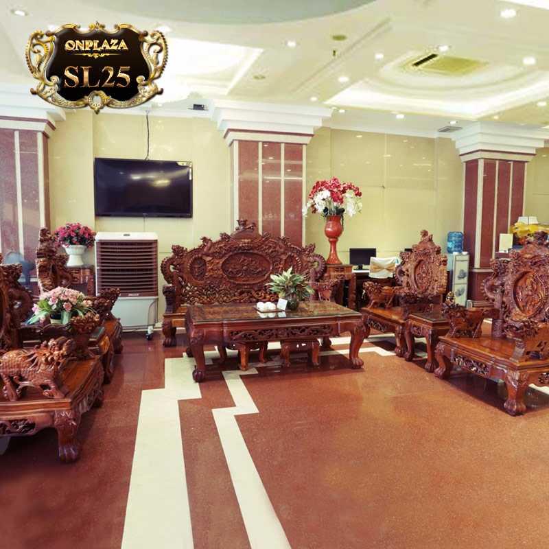 Bộ salon đại bằng gỗ hương đỏ