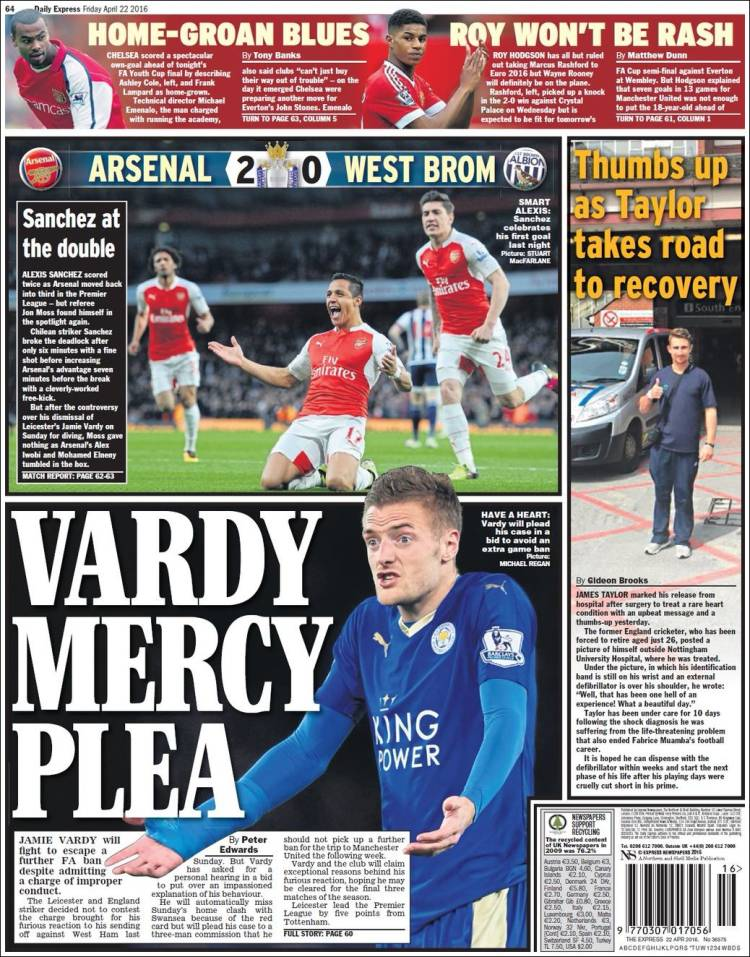 TODAY UK SPORTS NEWSPAPER HEADLINES Michezo Tu