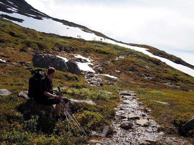 vrchol, příroda, trek, turistika, údolí Utladalen, Norsko, Jotunheimen, krosny