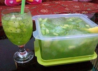 Es buah segar Melon nata de coco sarang walet