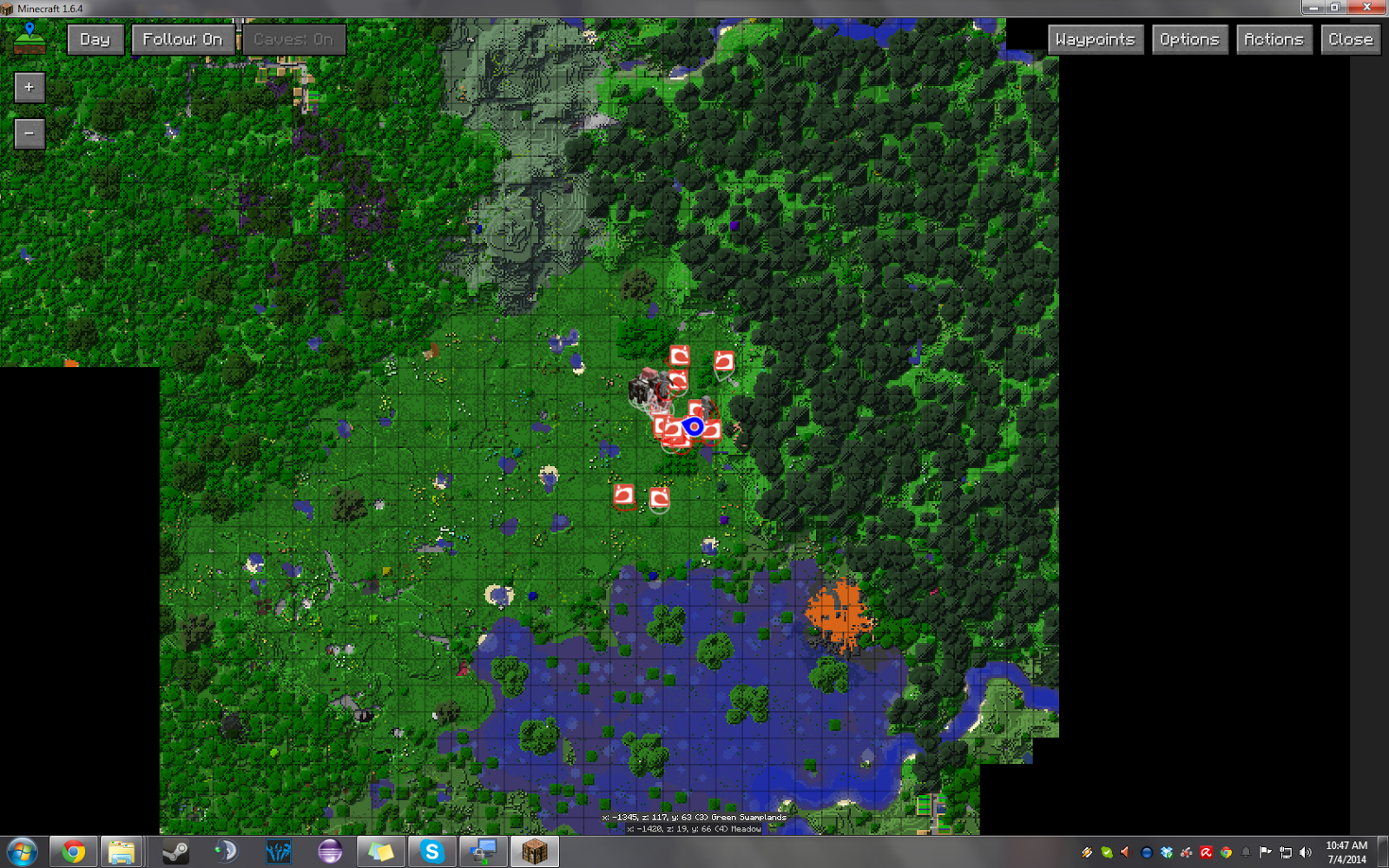 journeymap x realtime mapping ingame or in a web browser as  - this one isn't so clutter but there is less mobs