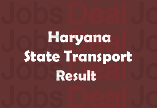 Haryana State Transport Result 2017