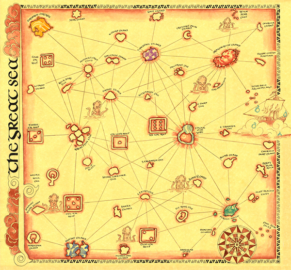 Zelda Windwaker Map on
