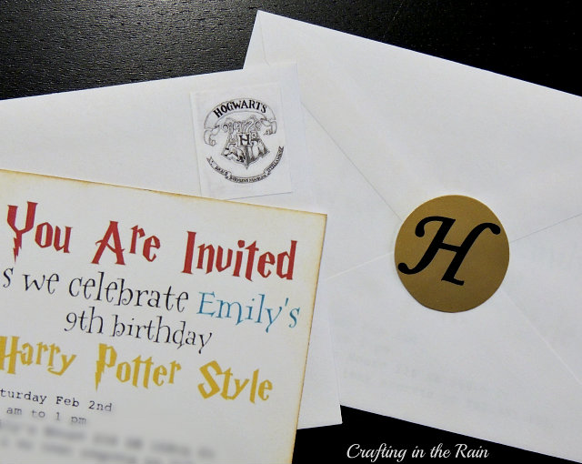I Downloaded A Couple Of Different Harry Potter Fonts And Used Them To Create The Wording On Our Invitation Rubbed Brown Ink Around Edges