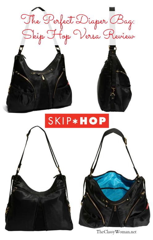 Diapering Skip Hop Black Diaper Bag Blue Interior Expandable Gold Zipper Hardware Pockets Baby