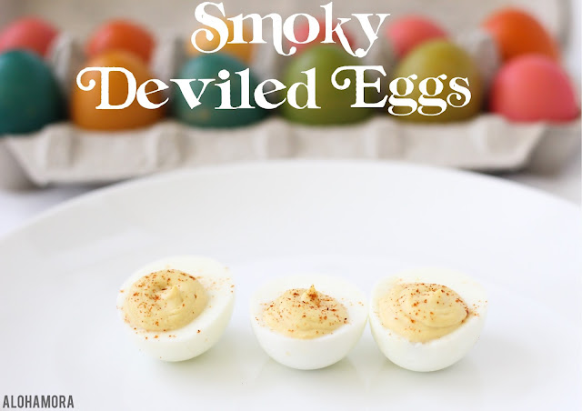 Smoky Deviled Eggs. Classic appetizer to use hard boiled eggs, but this gluten free recipe has a smoky delicious taste. Quick and easy to make. Classic. Alohamora Open a Book Alohomora http://alohamoraopenabook.blogspot.com/
