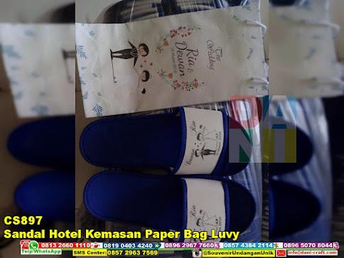 jual Sandal Hotel Kemasan Paper Bag Luvy
