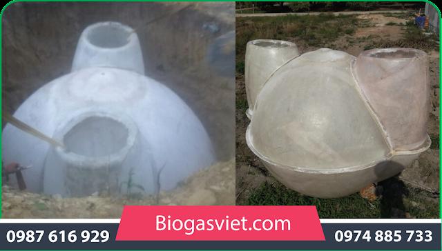hầm biogas cải tiến cho gia đình