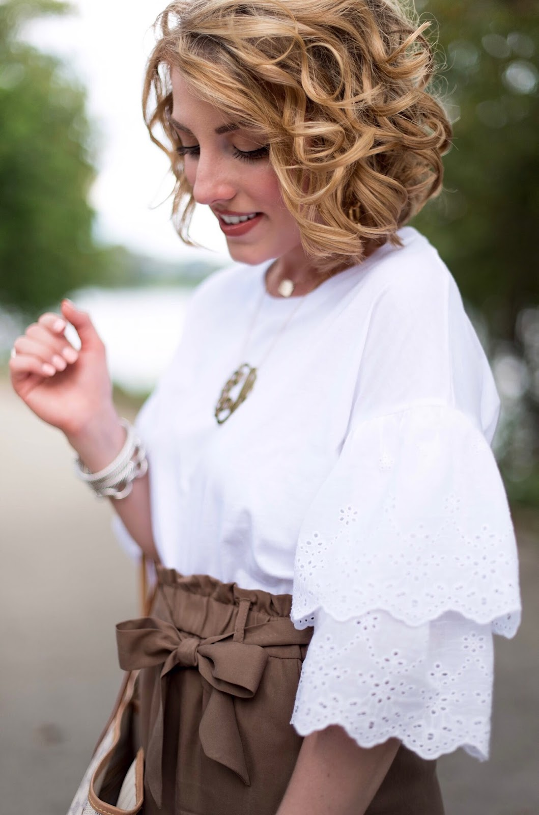 Eyelet Ruffle Sleeve T-Shirt - Click through to see more on Something Delightful!