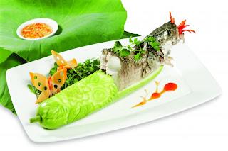 Món ngon với thủy sản - Cá lóc hấp bầu