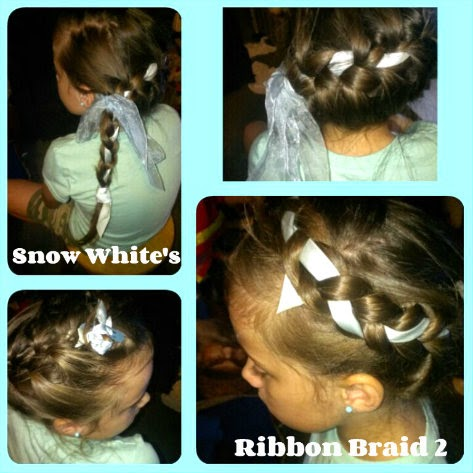 Disney Princess Hairstyles  snow white ribbon braid variation 1
