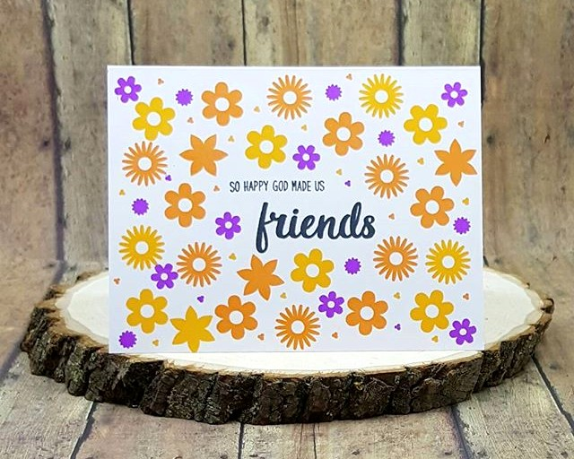 Sunny Studio Stamps: Friends & Family Flower Card by Kara
