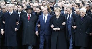 Politicians march