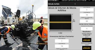 Cálculo volumen de concreto asfáltico (pavimento flexible)