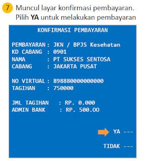 Pembayaran iuran BPJS Kesehatan via atm