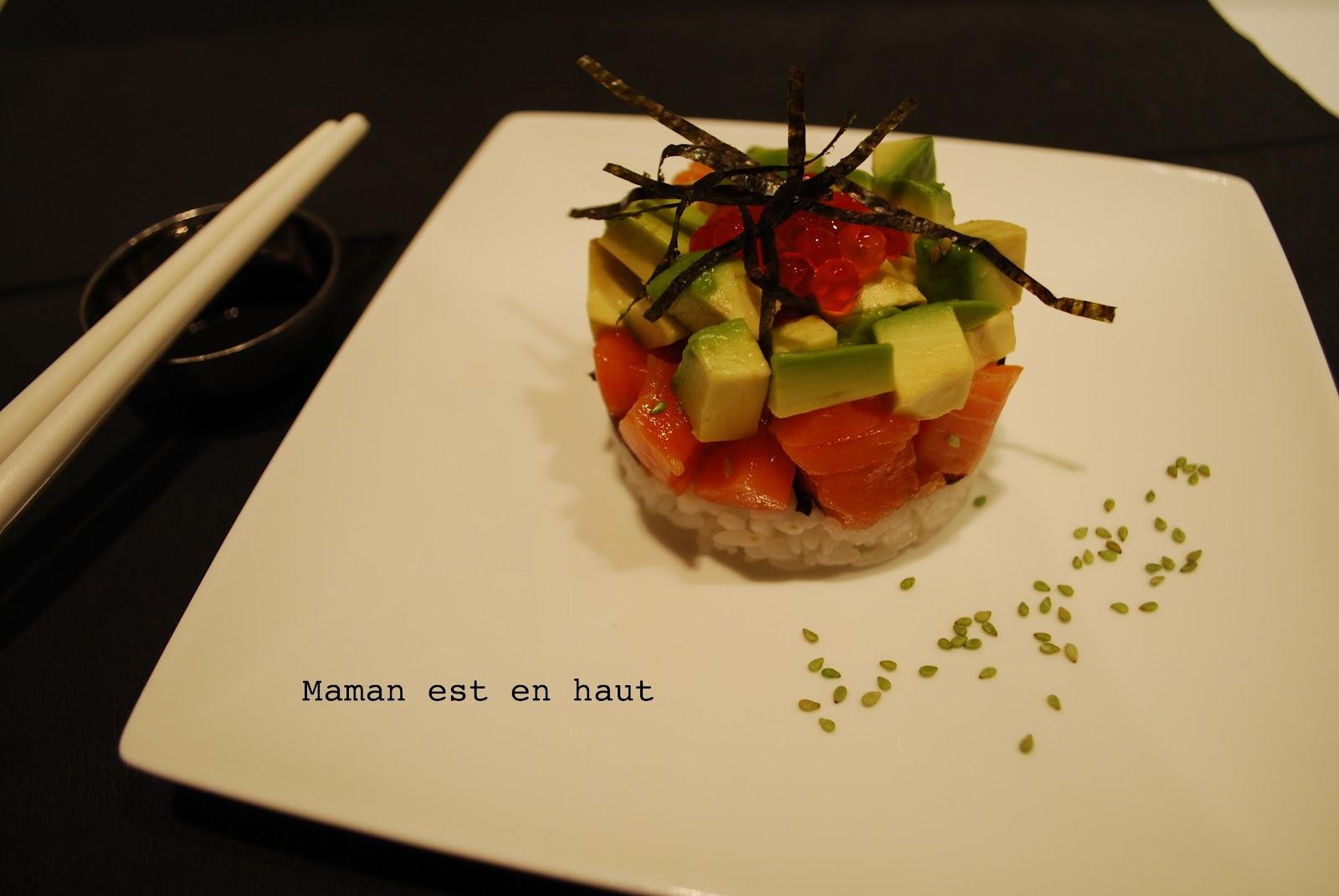 Maman est en haut: Tartare japonais saumon avocat shiitaké
