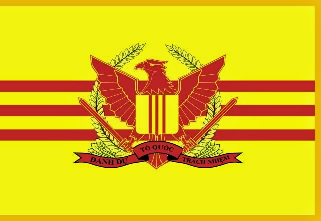 The flag of the Republic of Vietnam Military Forces. Used from 1955 to 1975.