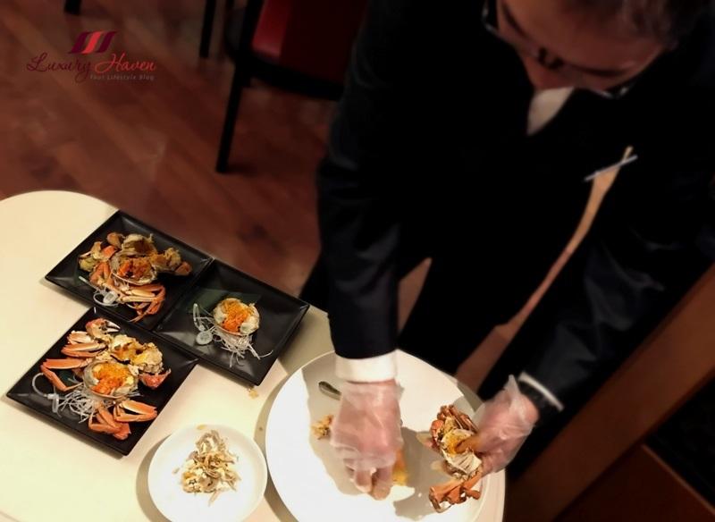 hilton tokyo bay dynasty restaurant hairy crab review