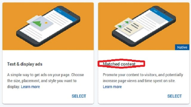 Bagaimana Mendapatkan Iklan Jenis Matched Content Google Adsense?