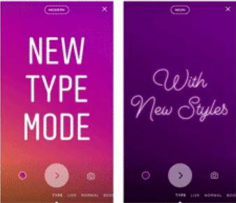 Cara Menggunakan Type Mode di Instagram Stories
