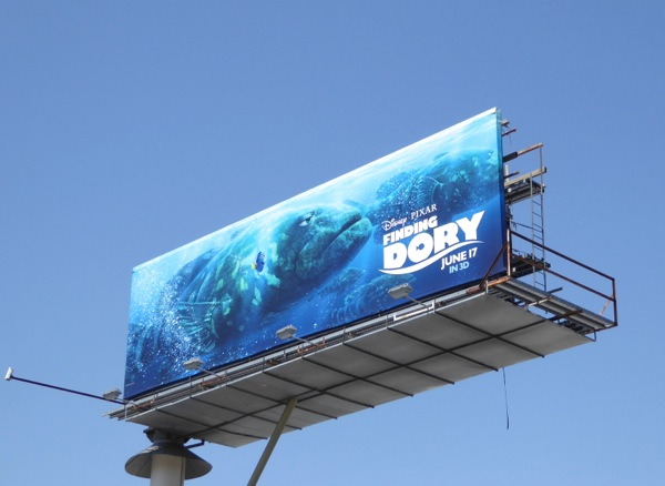 Finding Dory movie billboard