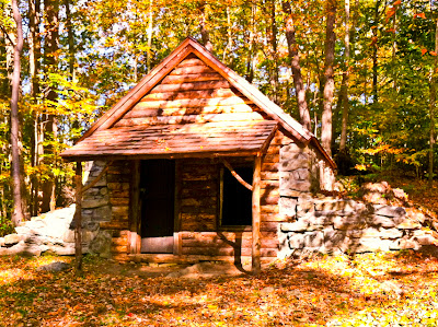 Recreated Hut at Putnam State Park - Redding CT