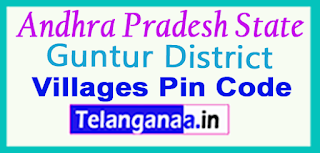Guntur District Pin Codes in Andhra Pradesh State