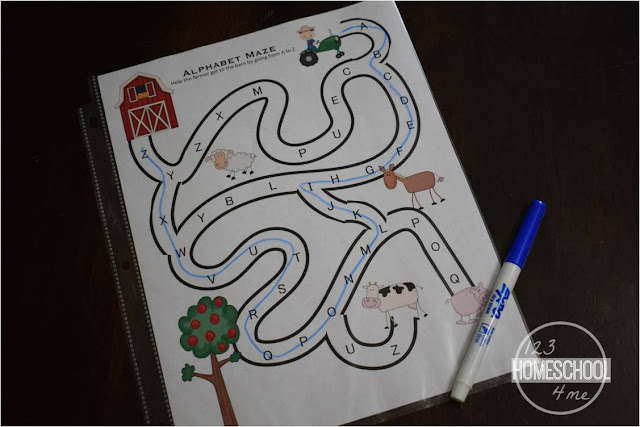 make abc games reusable by putting in page protector and using a dry erase marker