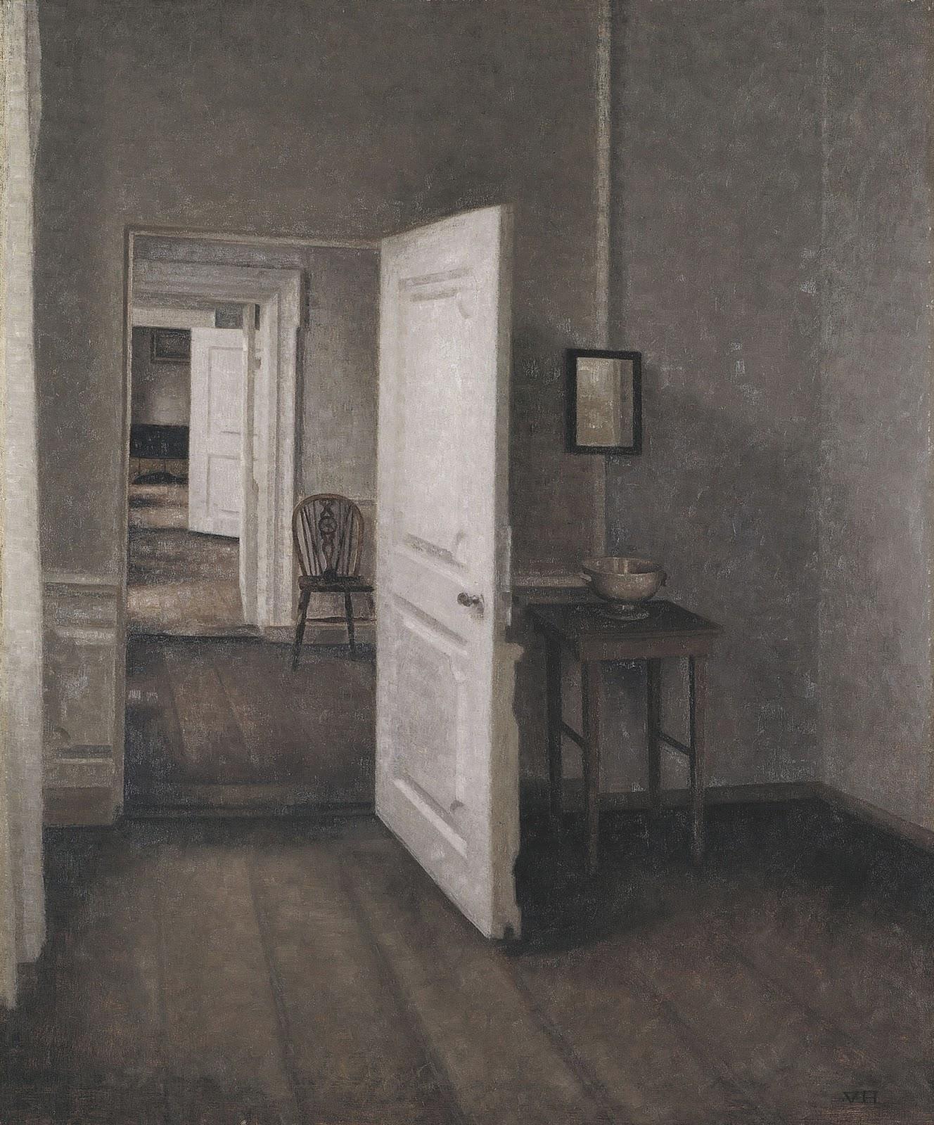 ヴィルヘルム・ハンマースホイの四つの部屋