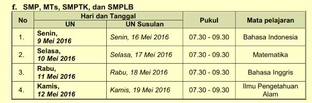 Jadwal Un Ujian Nasional 2016 Sma Ma Smk Mak Smp Mts Lengkap Kumpulan Info Cara Tips Menarik