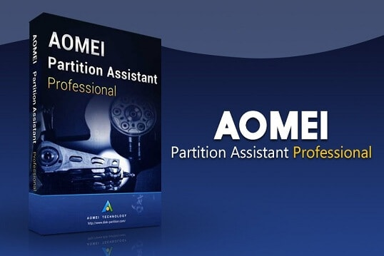 Partition hard disk by AOMEI