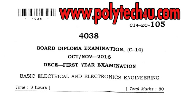 C-14 ECE BASIC ELECTRICAL AND ELECTRONIC ENGINEERING QUESTION PAPER