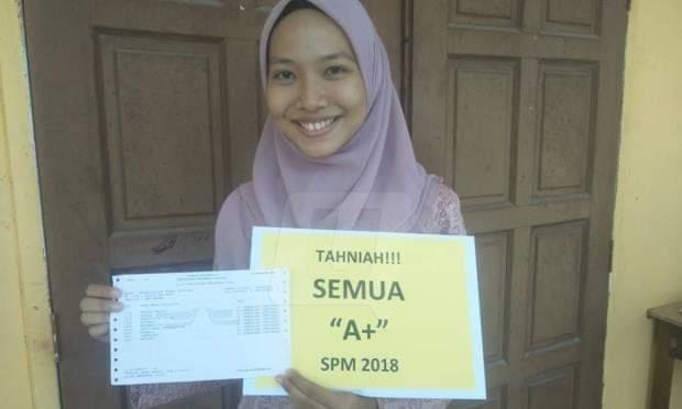 Cantik dan bijak – Najah Afiqah pelajar terbaik SPM 2018 Peringkat Negeri Perlis